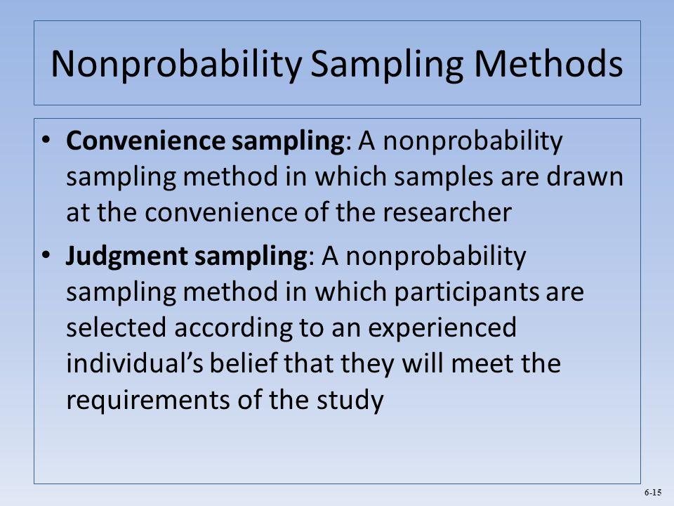Nonprobability Sampling Methods
