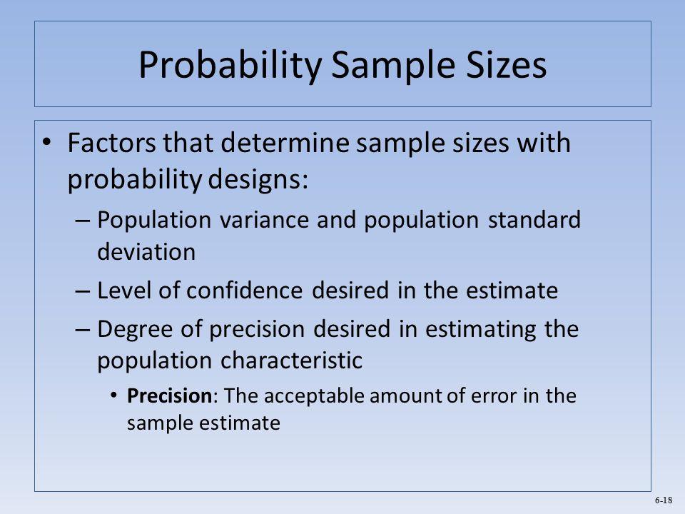 Probability Sample Sizes