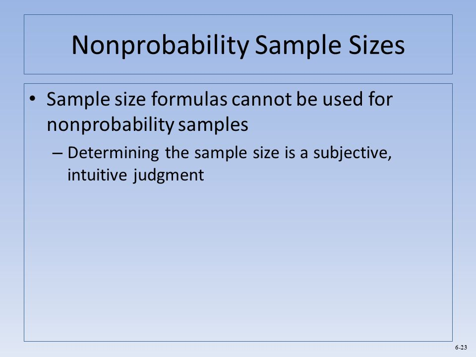 Nonprobability Sample Sizes
