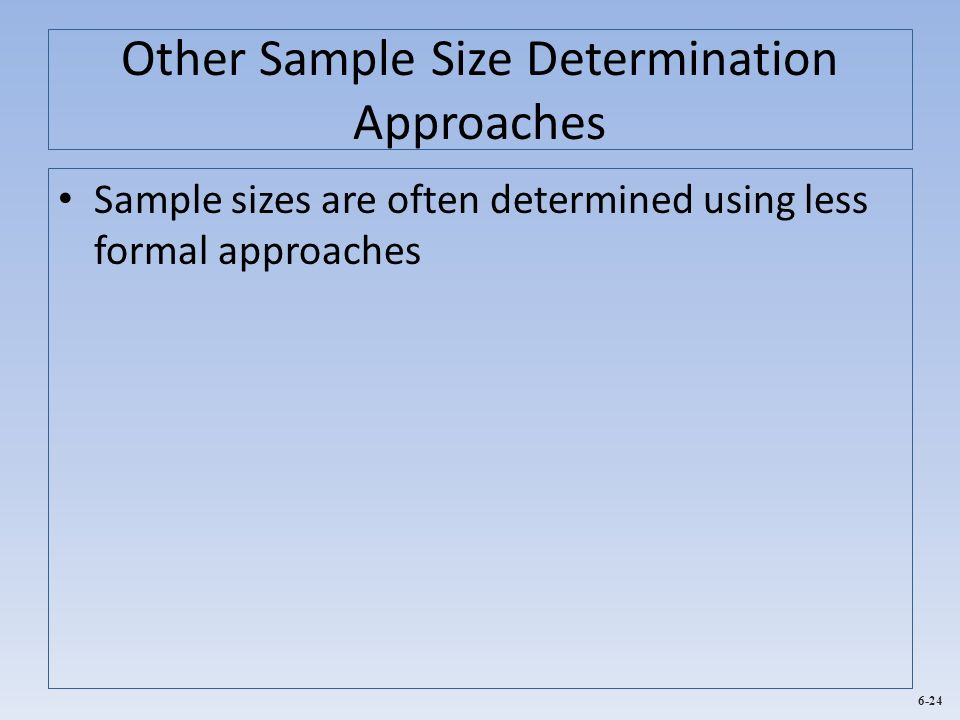 Other Sample Size Determination Approaches
