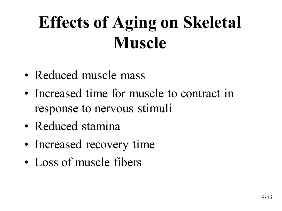 Effects of Aging on Skeletal Muscle