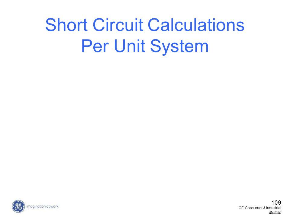 Short Circuit Calculations Per Unit System