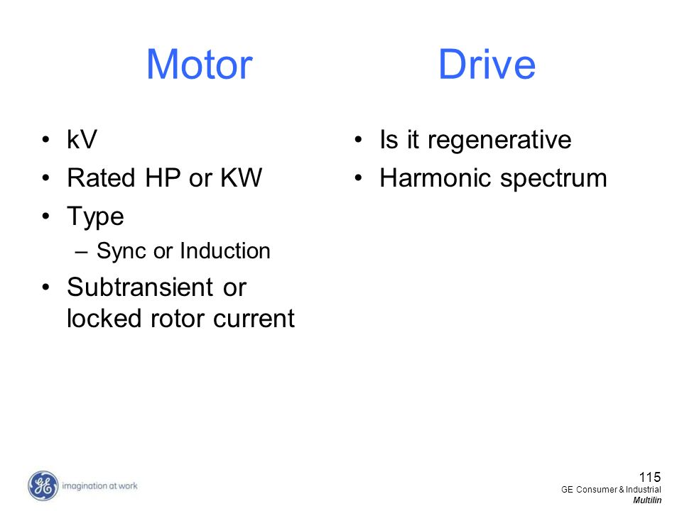 Motor Drive kV Rated HP or KW Type