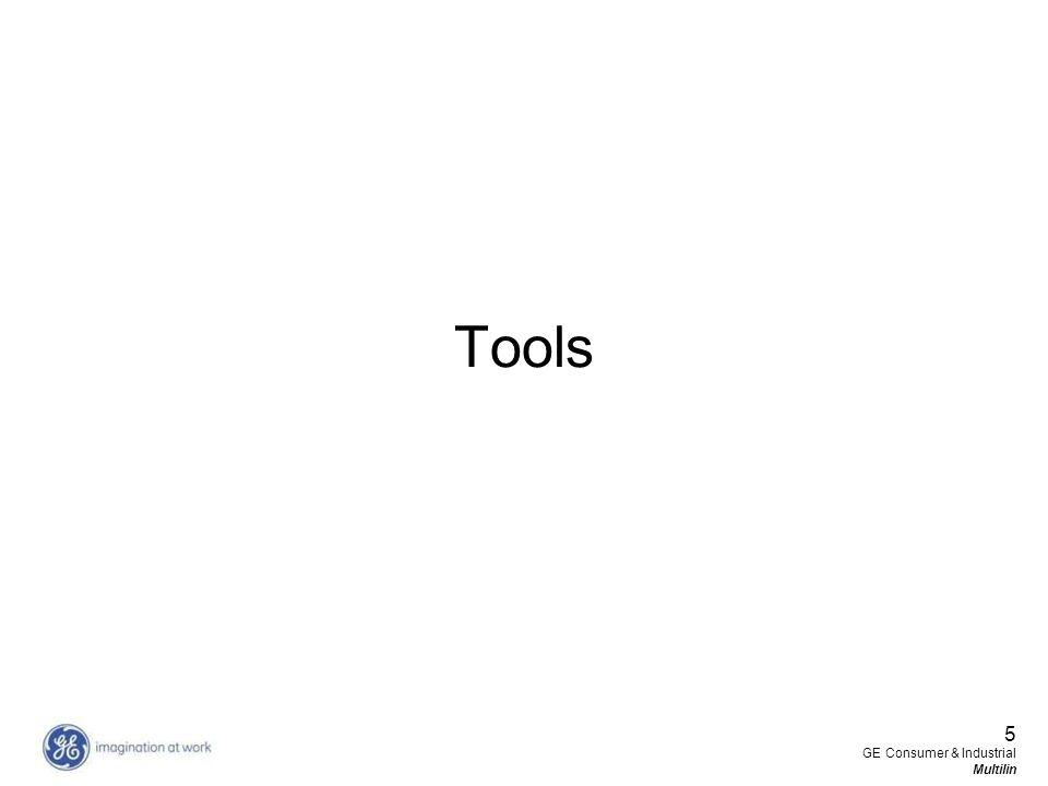 Tools 5 GE Consumer & Industrial Multilin