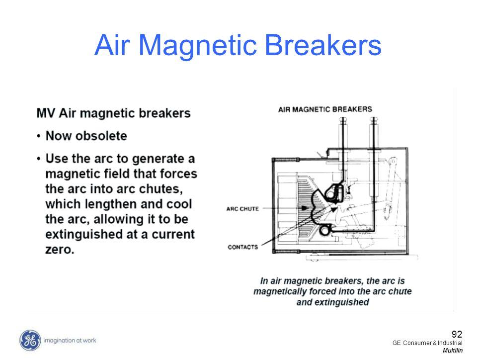 Air Magnetic Breakers 92 GE Consumer & Industrial Multilin
