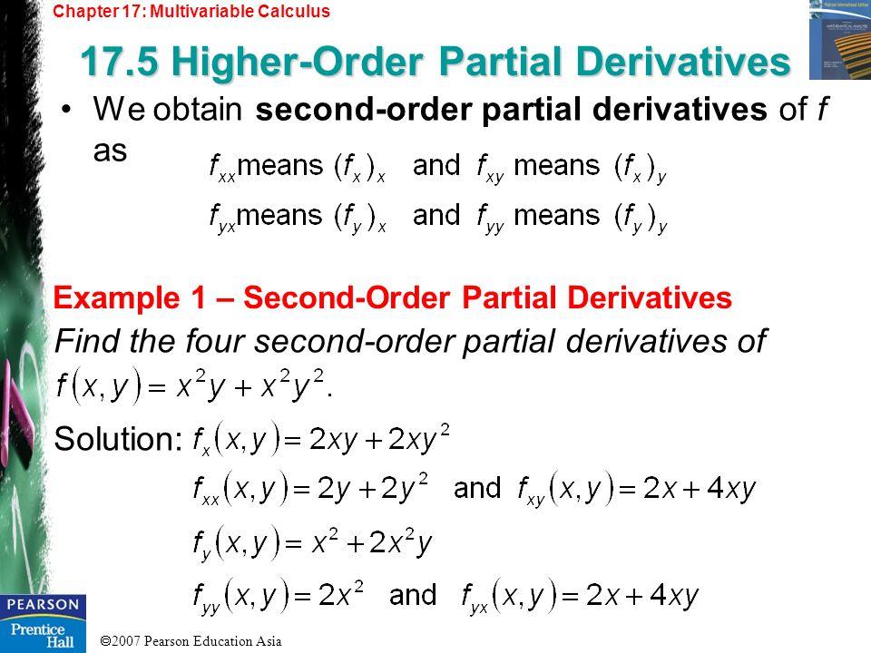 17.5 Higher-Order Partial Derivatives
