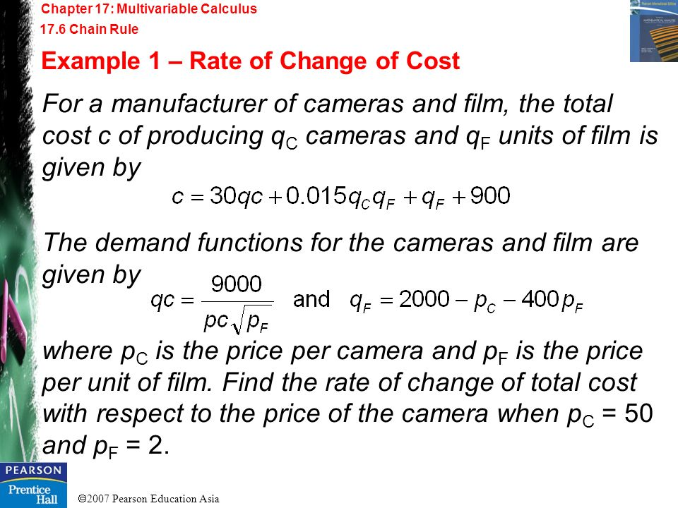 The demand functions for the cameras and film are given by