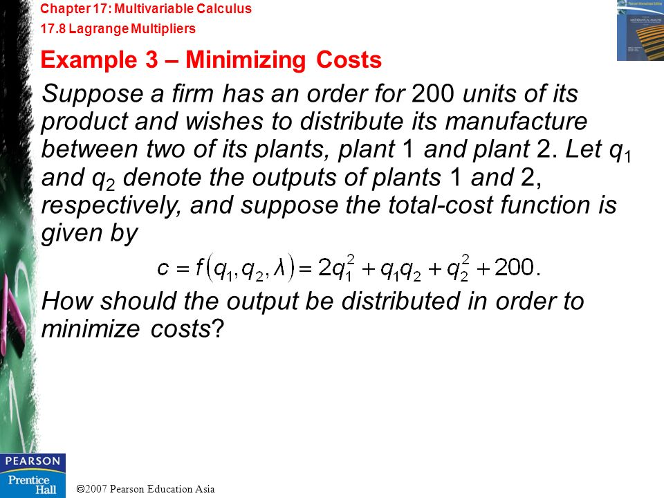 How should the output be distributed in order to minimize costs