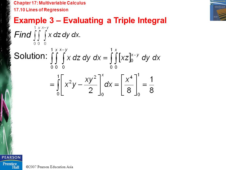Find Solution: Example 3 – Evaluating a Triple Integral