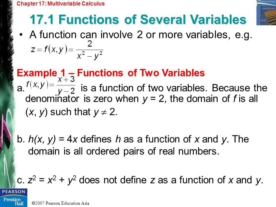 17.1 Functions of Several Variables