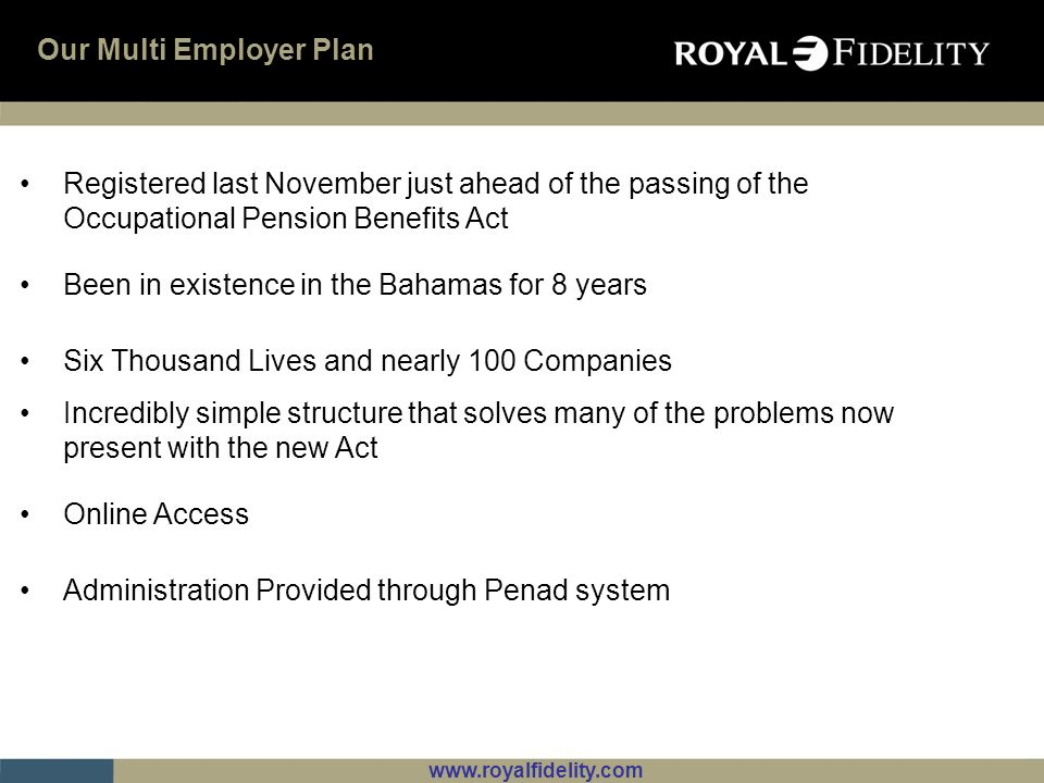 Our Multi Employer Plan