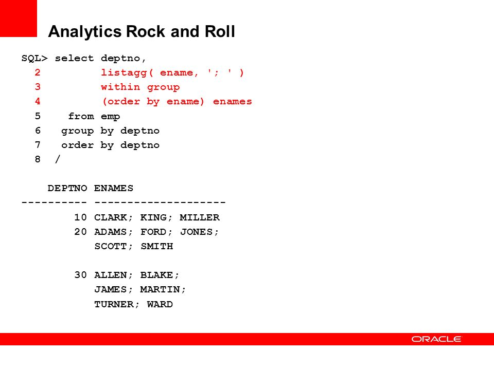 Analytics Rock and Roll