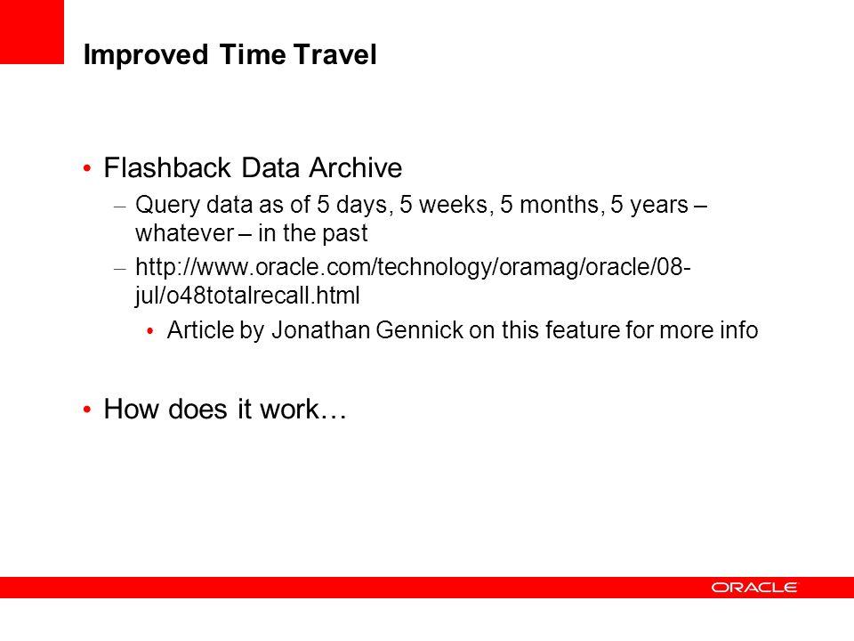 Flashback Data Archive