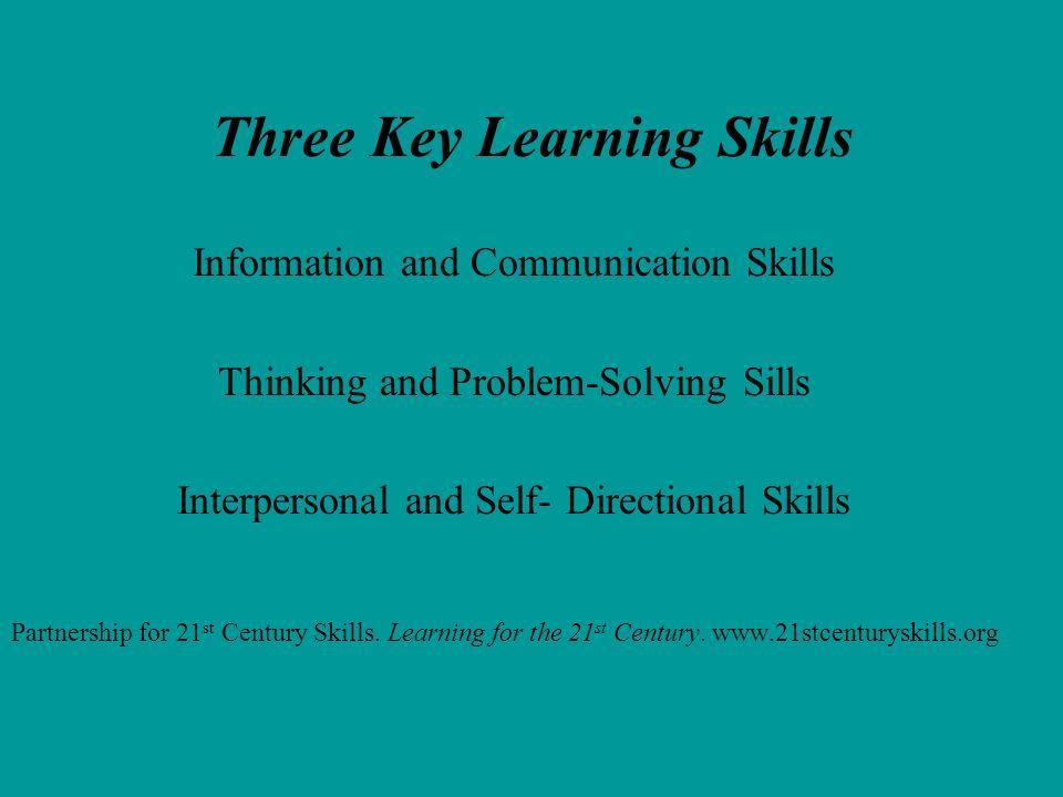 Three Key Learning Skills