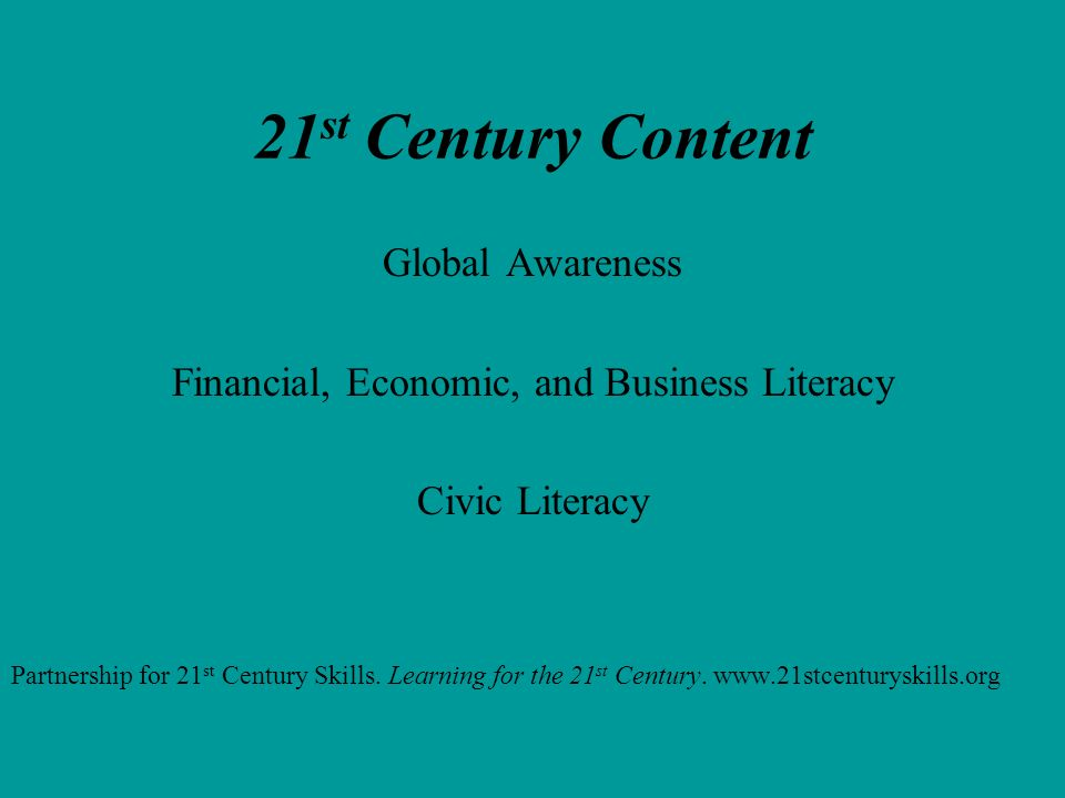Financial, Economic, and Business Literacy