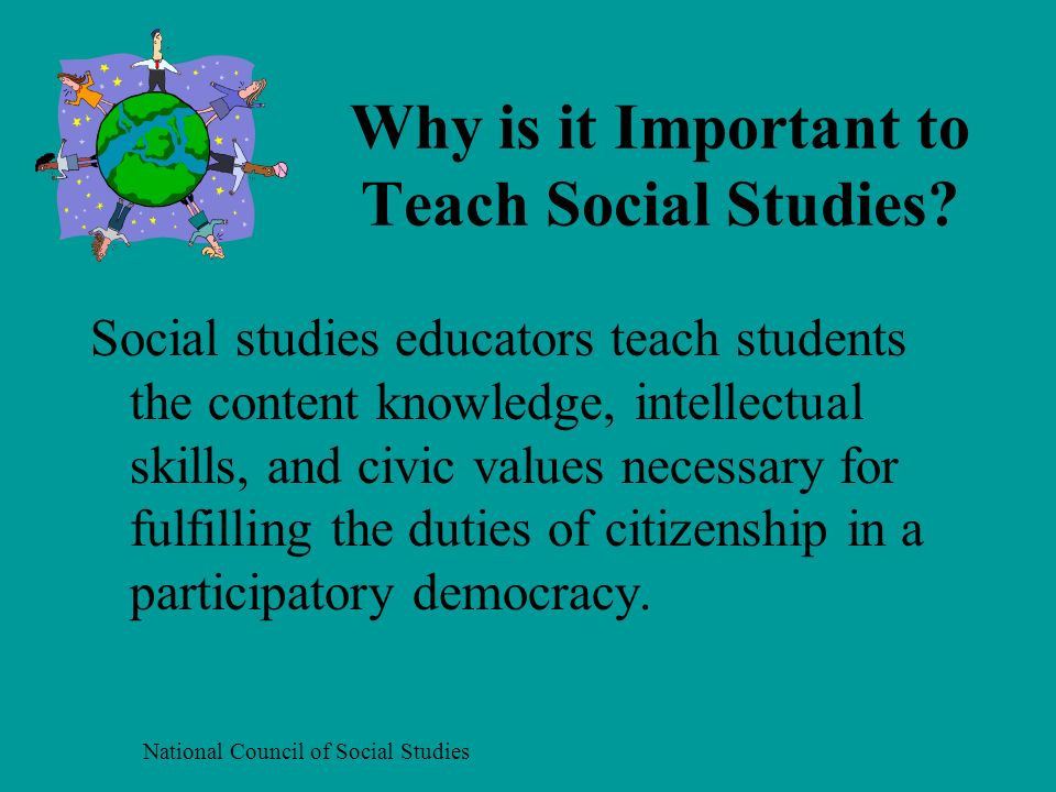 Why is it Important to Teach Social Studies