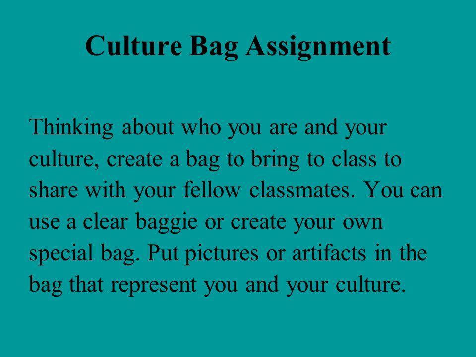 Culture Bag Assignment