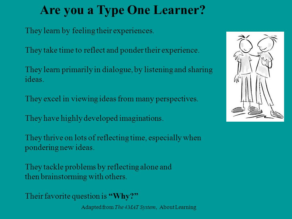 Are you a Type One Learner