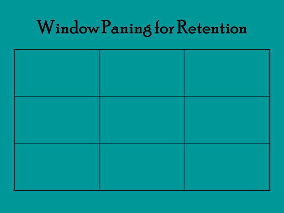 Window Paning for Retention