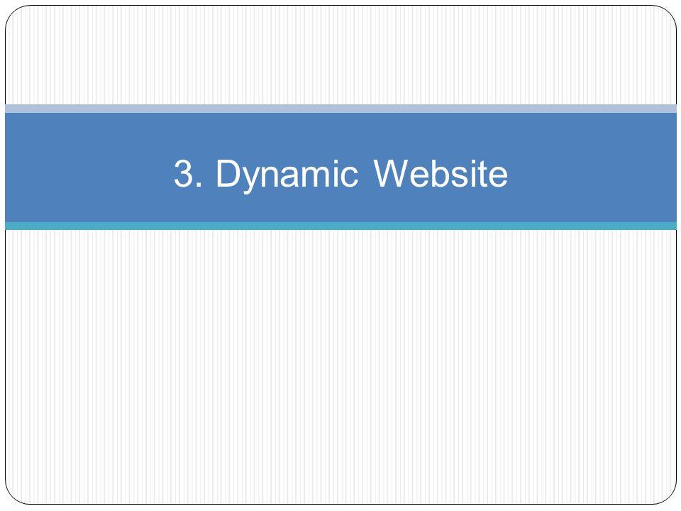 3. Dynamic Website