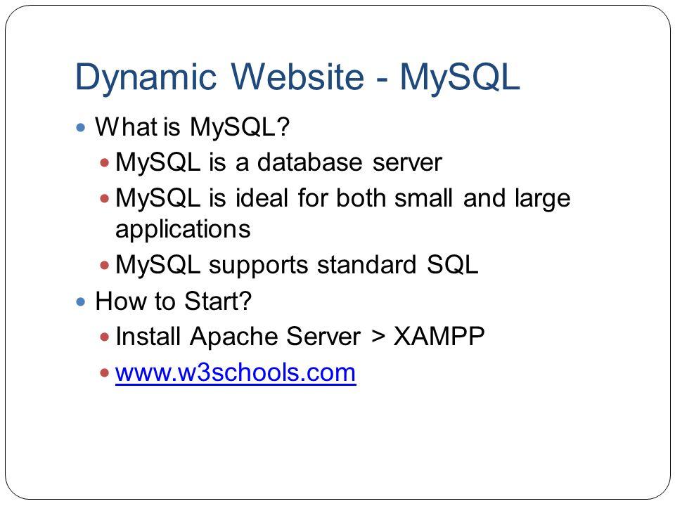 Dynamic Website - MySQL
