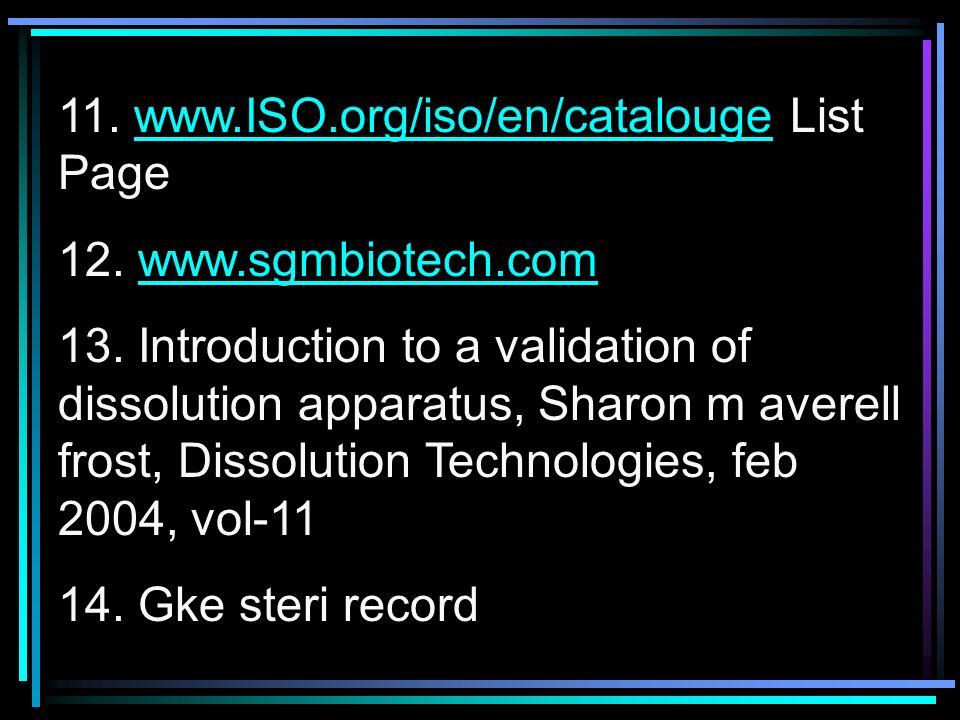 11. www.ISO.org/iso/en/catalouge List Page