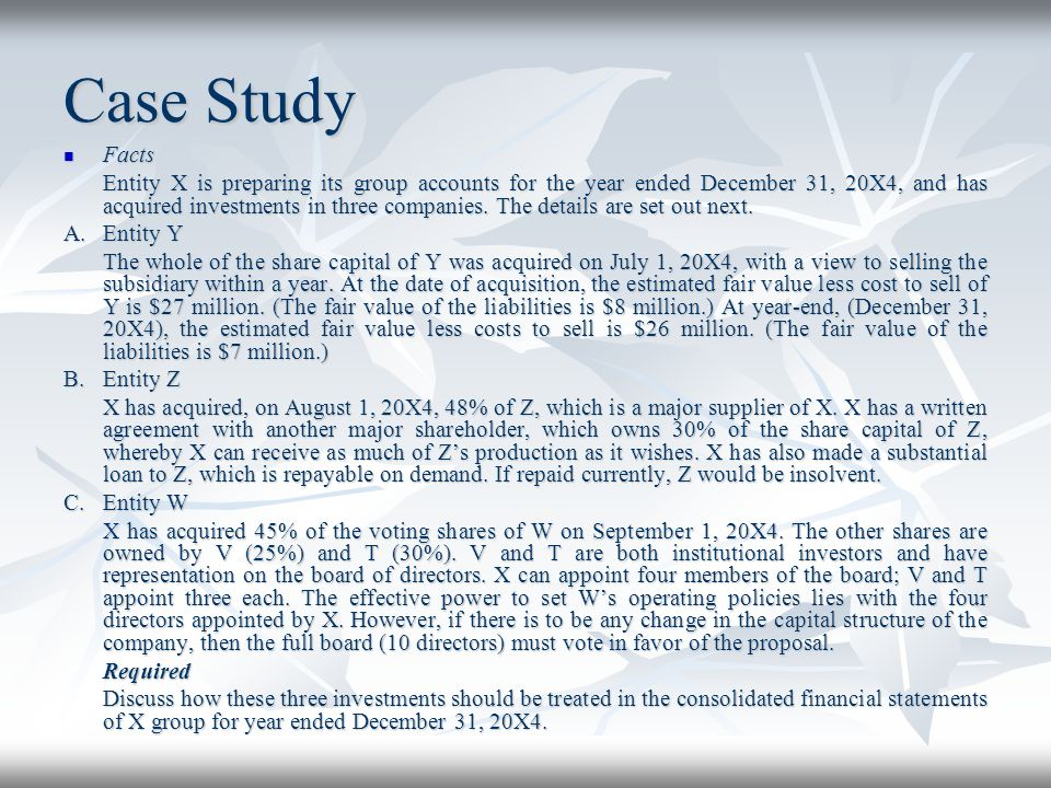 Case Study Facts.