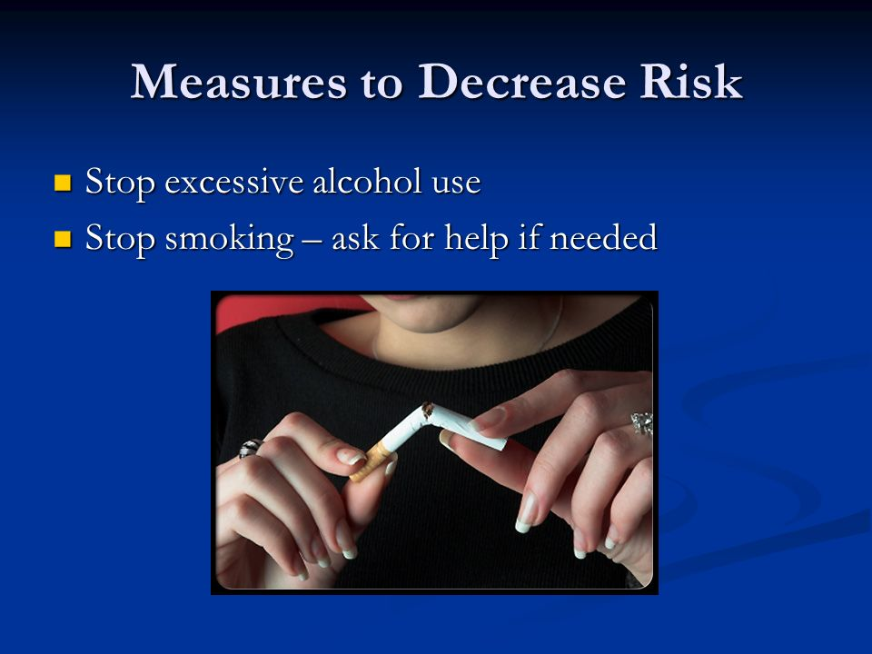 Measures to Decrease Risk