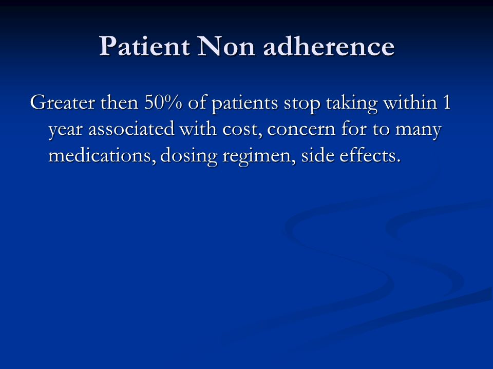 Patient Non adherence