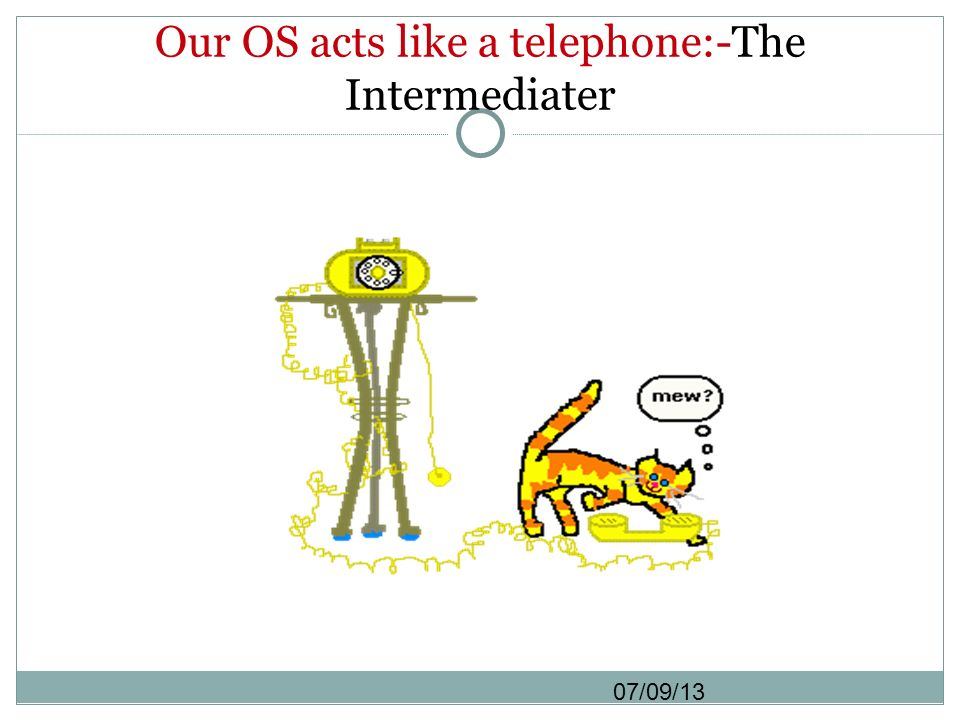 Our OS acts like a telephone:-The Intermediater