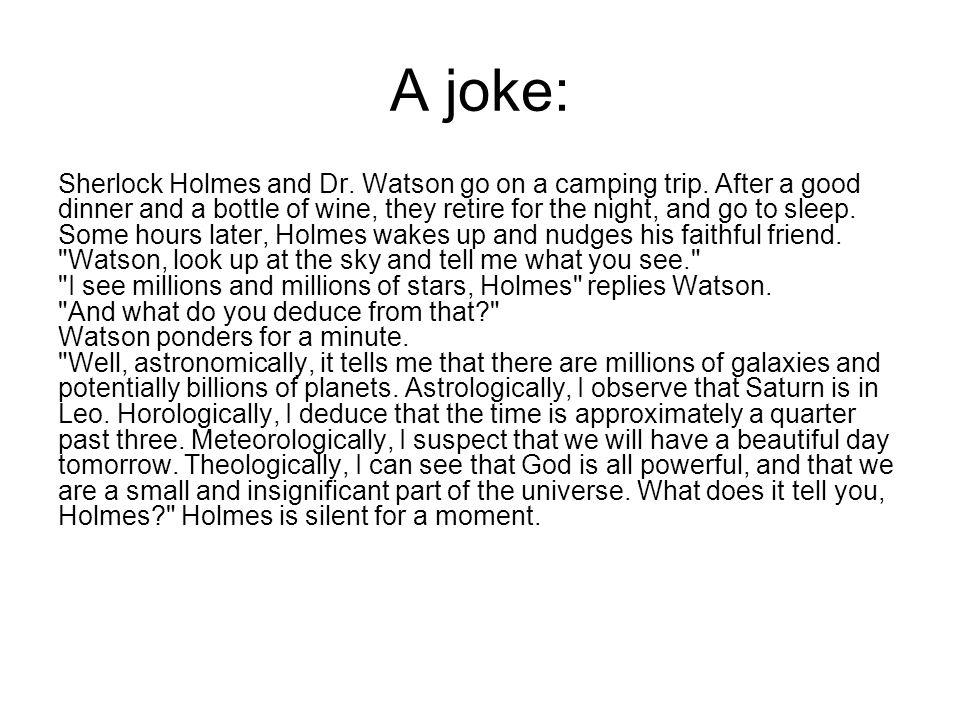 A joke: