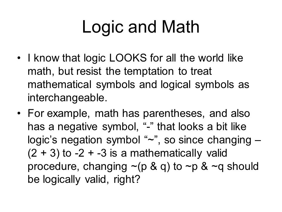 Logic and Math