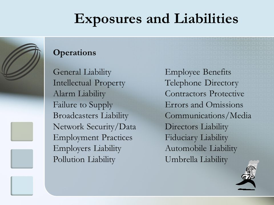 Exposures and Liabilities