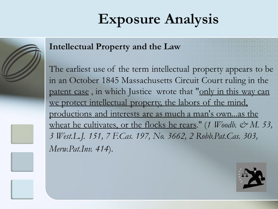 Exposure Analysis Intellectual Property and the Law