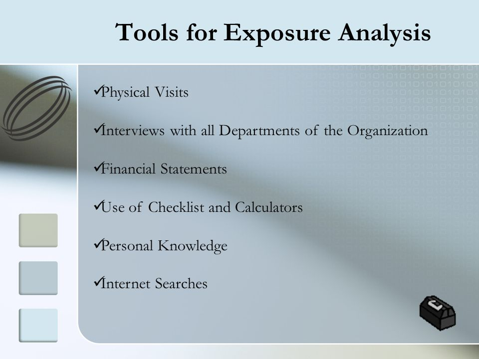 Tools for Exposure Analysis