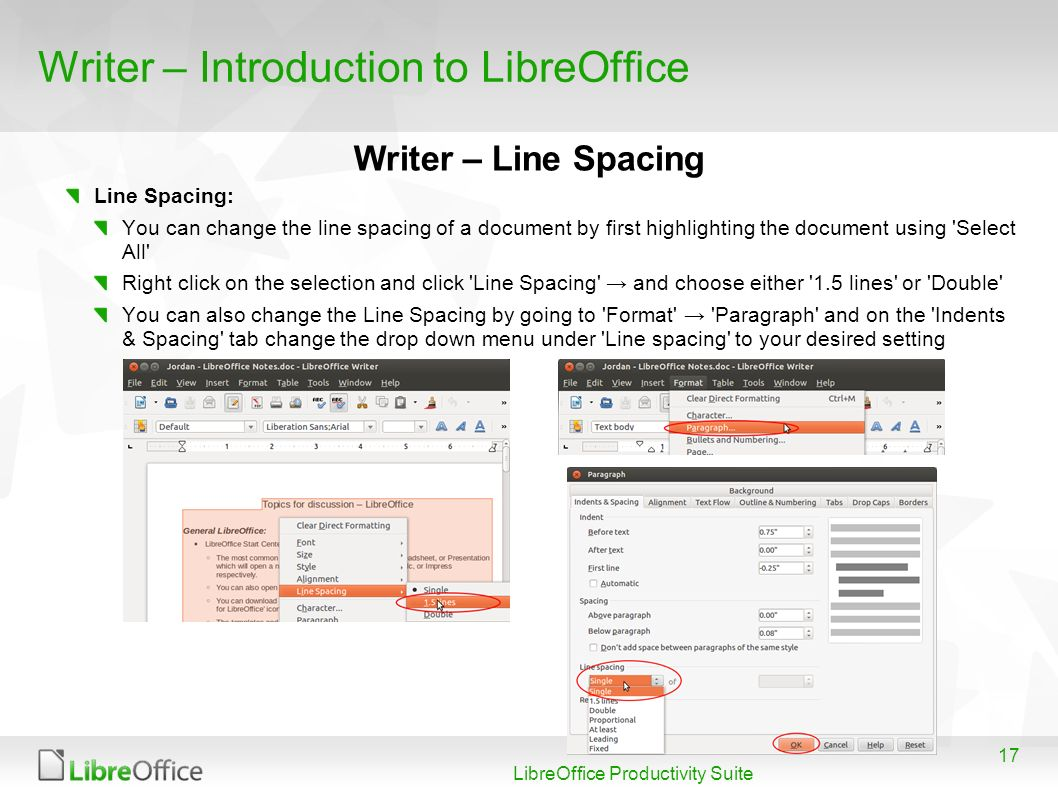 Writer – Introduction to LibreOffice