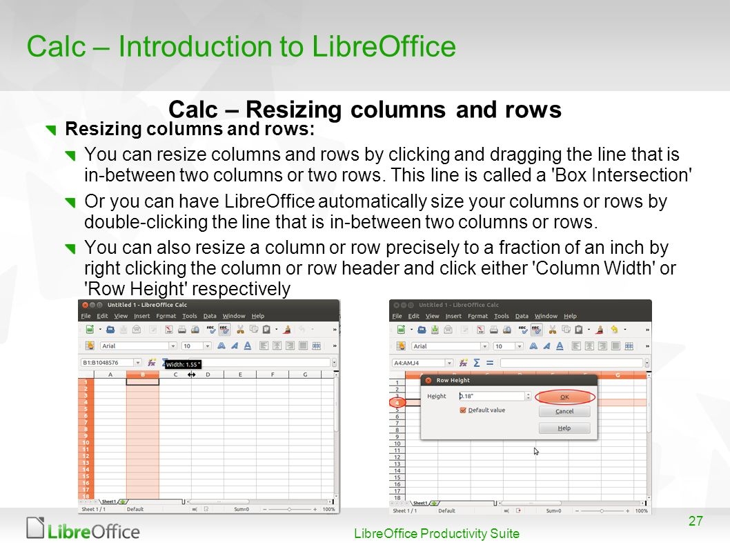 Calc – Introduction to LibreOffice