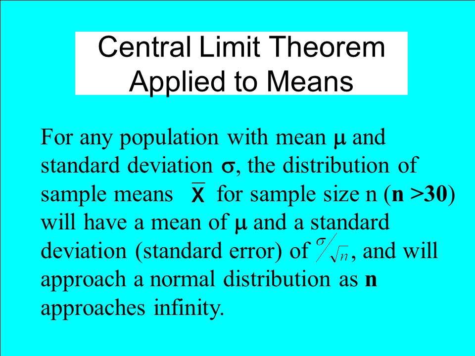 Central Limit Theorem Applied to Means
