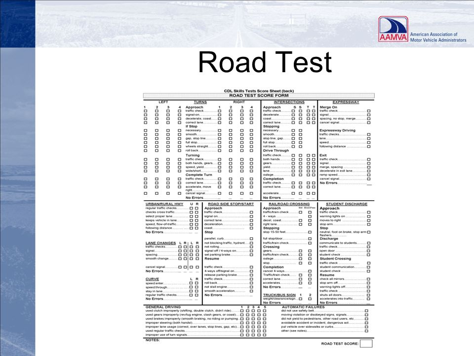CDL Testing and Commercial Learner's Permit Standards Final Rule ...