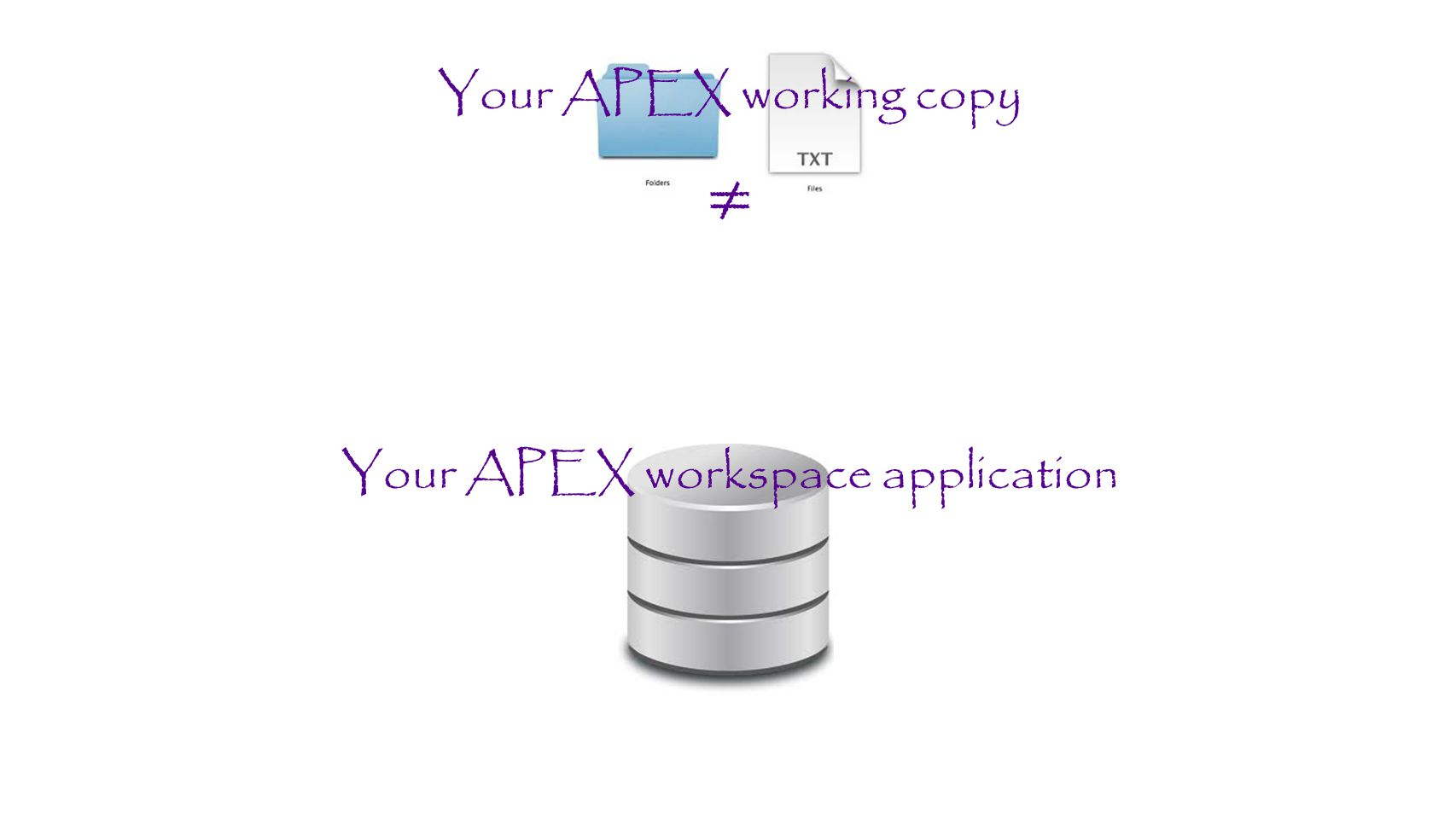 Your APEX workspace application