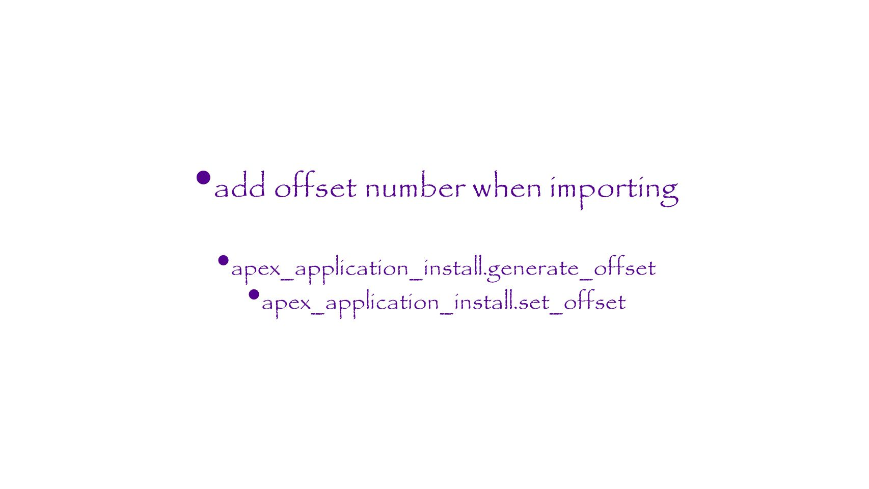 add offset number when importing