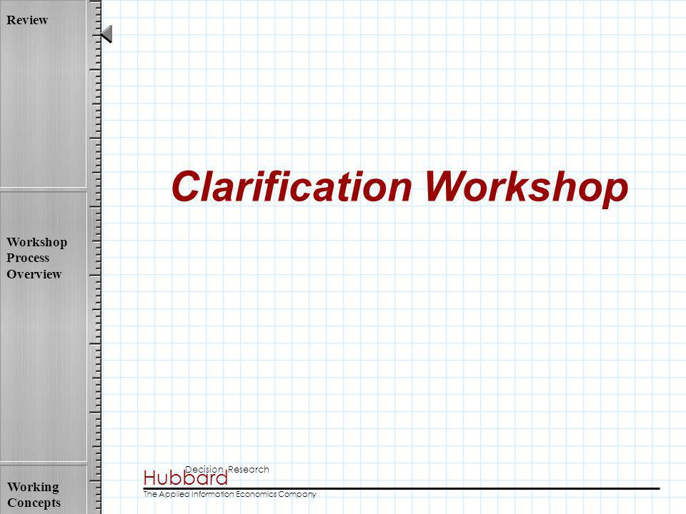 Clarification Workshop