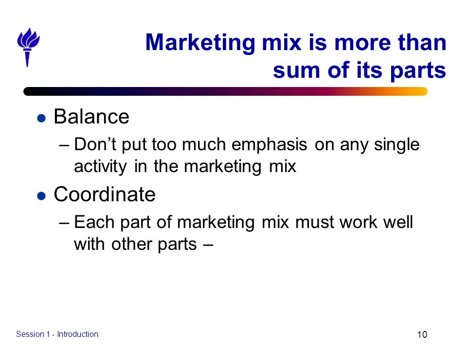 Marketing mix is more than sum of its parts