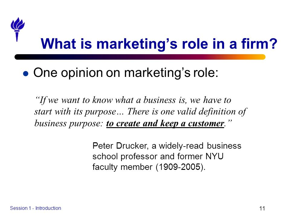 What is marketing's role in a firm