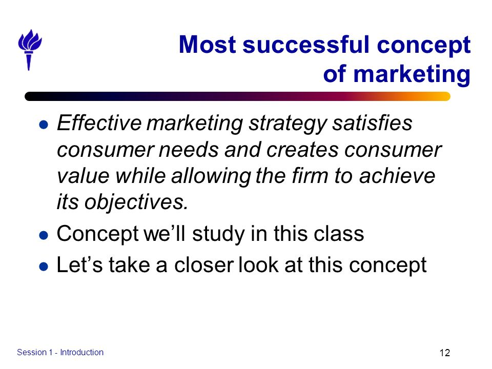 Most successful concept of marketing