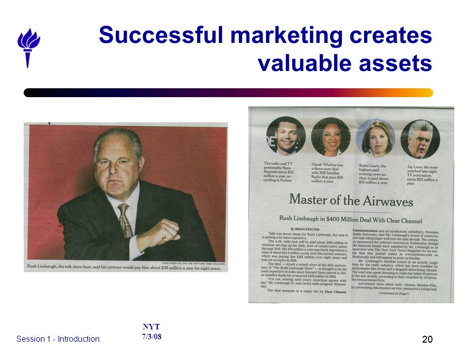 Successful marketing creates valuable assets