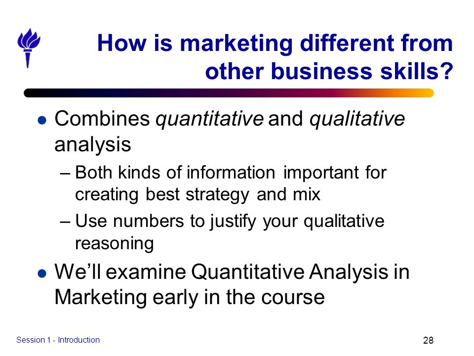How is marketing different from other business skills