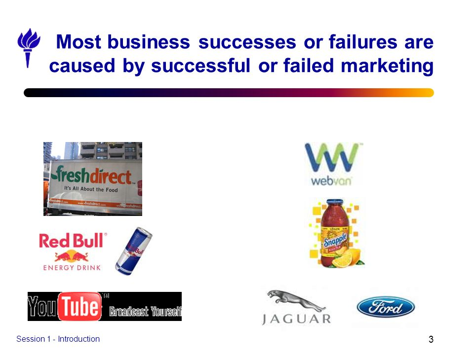 Most business successes or failures are caused by successful or failed marketing