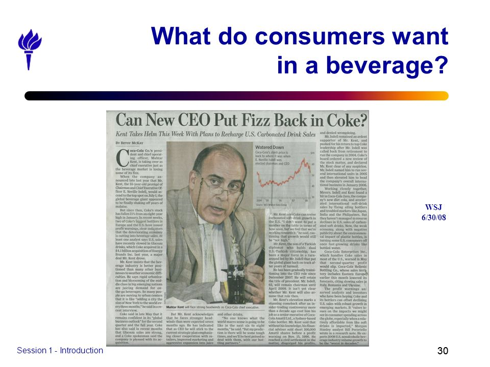What do consumers want in a beverage