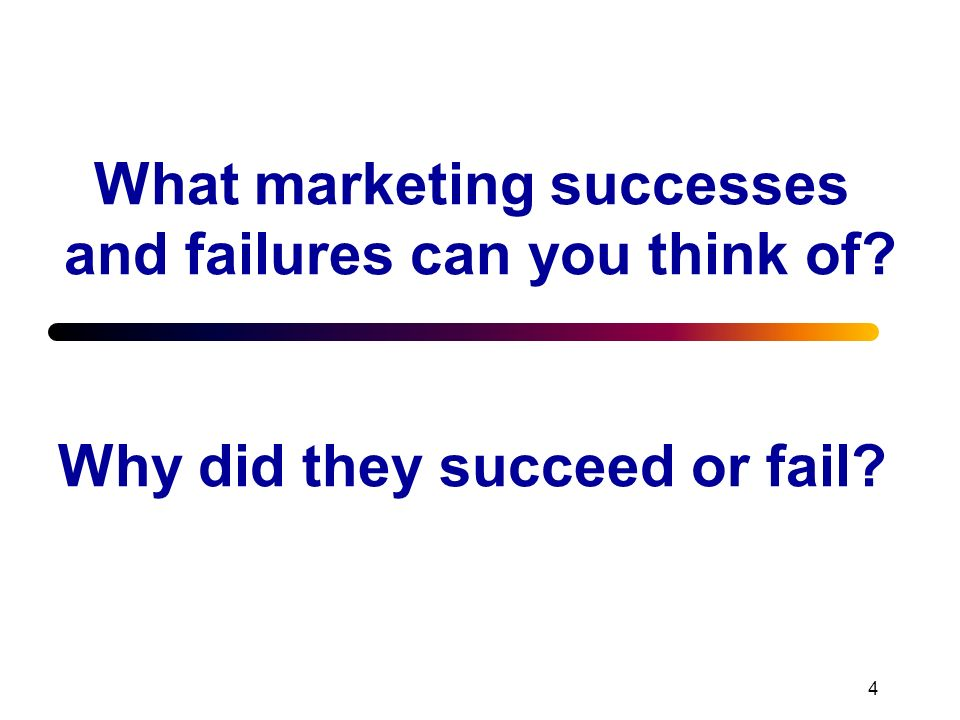 What marketing successes and failures can you think of